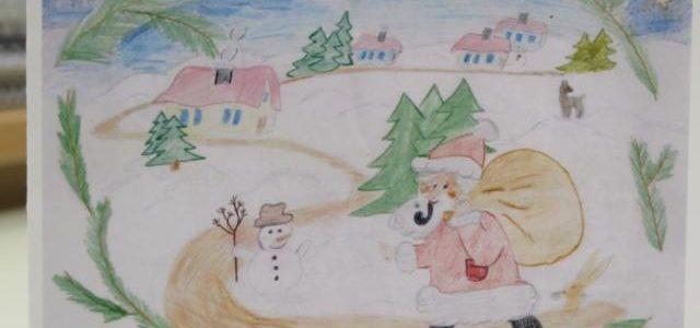 Die Weihnachtskarte des Gymnasiums