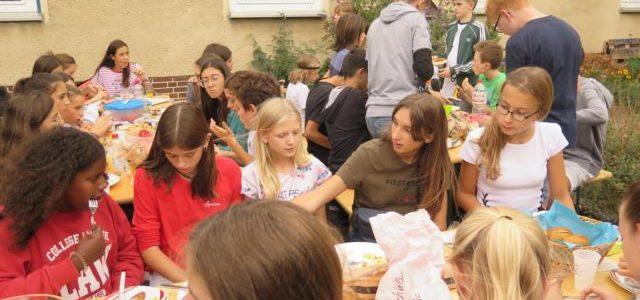 Spanische Austauschschüler zu Besuch