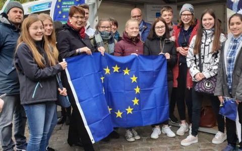 Erasmus+-AG beim Europa-Fest in Hannover