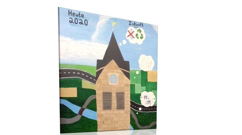 Kunstprojekt an die Volksbank Uetze übergeben