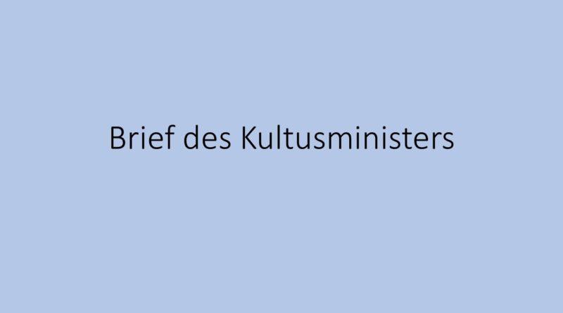 Informationen aus dem Kultusministerium