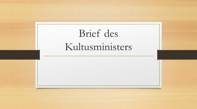 Briefe des Ministers